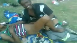 South African hooker fucked in public