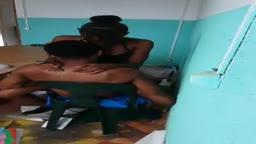 School girl riding cocky in classroom pt1