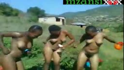 Zulu girls naked outside dance