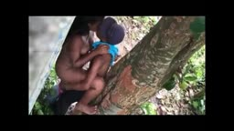 Drunk Dbn Indian GF fucked under de tree